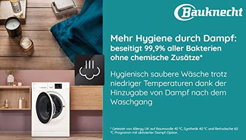 Bauknecht WM Steam 8 100 Waschmaschine Frontlader/A+++/1400 UpM/8 kg/langlebiger Motor/Antiflecken 100/Dampf-Option pflegt Wäsche hygienisch rein/EcoTech Mengenautomatik - 11