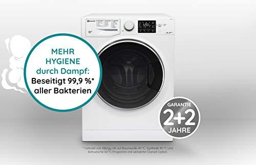 Bauknecht WM Steam 8 100 Waschmaschine Frontlader/A+++/1400 UpM/8 kg/langlebiger Motor/Antiflecken 100/Dampf-Option pflegt Wäsche hygienisch rein/EcoTech Mengenautomatik - 3