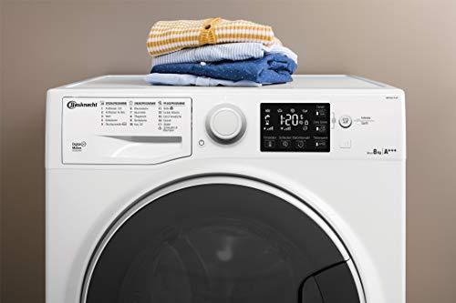 Bauknecht WM Steam 8 100 Waschmaschine Frontlader/A+++/1400 UpM/8 kg/langlebiger Motor/Antiflecken 100/Dampf-Option pflegt Wäsche hygienisch rein/EcoTech Mengenautomatik - 6
