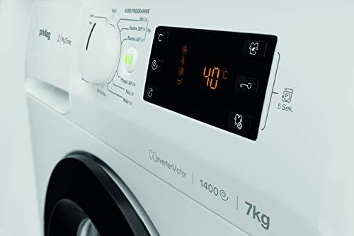 Privileg PWF MT 61483 Waschmaschine Frontlader/A+++/ 1351 UpM/ 6 kg/Startzeitvorwahl/Kurzprogramme/Eco-Motor/Wolle-Programm/Mehrfachwasserschutz , Weiss - 2