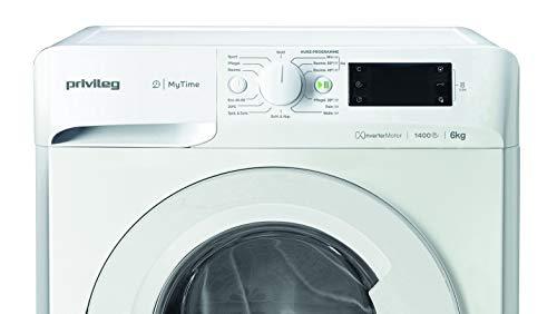Privileg PWF MT 61483 Waschmaschine Frontlader/A+++/ 1351 UpM/ 6 kg/Startzeitvorwahl/Kurzprogramme/Eco-Motor/Wolle-Programm/Mehrfachwasserschutz , Weiss - 6