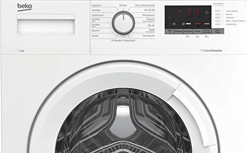 Beko WML61433NPS1 Waschmaschine/Restzeitanzeige und Schleuderwahl/ 1400 U/min/Pet Hair Removal/ 6 kg/nur 44 cm tief - platzsparend, Weiß - 4