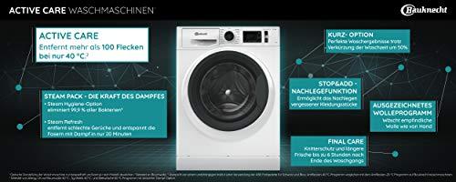 Bauknecht W Active 711 C Waschmaschine Frontlader/ 7kg/ kraftvolle Fleckentfernung/ Dampf Programme/ Steam Hygiene Option/ Steam Refresh/ Stopp&Add Funktion/ Dynamic Inverter-Motor, Weiss - 2