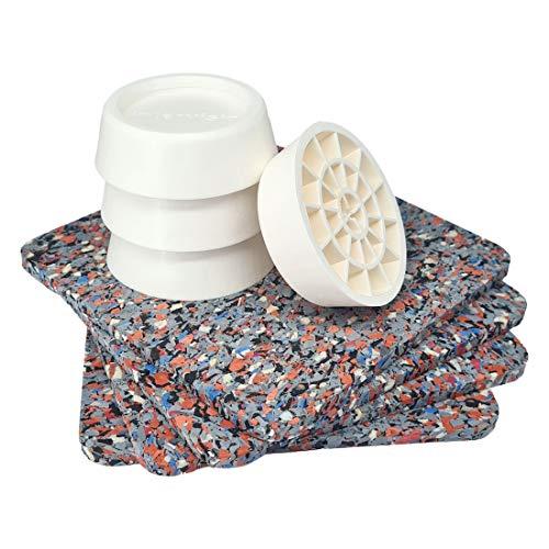 Antivibrationsmatte für Waschmaschine oder Trockner - 4er Set