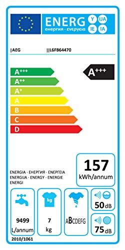 AEG L6FB64470 Waschmaschine / 7,0 kg / Leise / Mengenautomatik / Nachlegefunktion / Kindersicherung / Schontrommel / Wasserstopp / 1400 U/min - 11