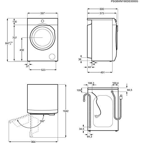 AEG L6FB64470 Waschmaschine / 7,0 kg / Leise / Mengenautomatik / Nachlegefunktion / Kindersicherung / Schontrommel / Wasserstopp / 1400 U/min - 8
