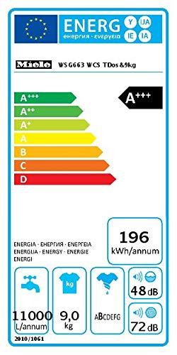 Miele WSG 663 WCS Frontlader Waschmaschine / 9 kg / automatisches Dosiersystem - TwinDos / Vorbügeln / Miele@home / Watercontrol-System / Hygiene-Option - AllergoWash / 1400 U/min / A+++ - 2