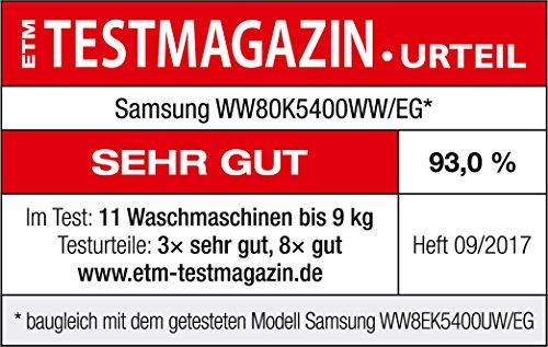 Samsung WW80K5400WW/EG Waschmaschine FL/A+++/116 kWh/Jahr/1400 UpM/8 kg/Add Wash/Smart Check/Digital Inverter Motor - 11