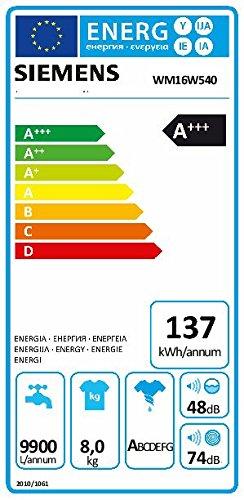 Siemens iQ700 WM16W540 Waschmaschine / 8,00 kg / A+++ / 137 kWh / 1.600 U/min / Schnellwaschprogramm / Nachlegefunktion / aquaStop - 6