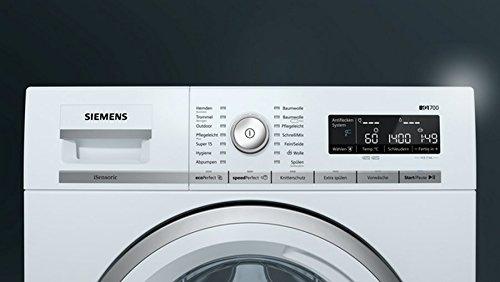 Siemens iQ700 WM14W570 Waschmaschine / 8,00 kg / A+++ / 196 kWh / 1.400 U/min / Schnellwaschprogramm / Nachlegefunktion / aquaStop - 3