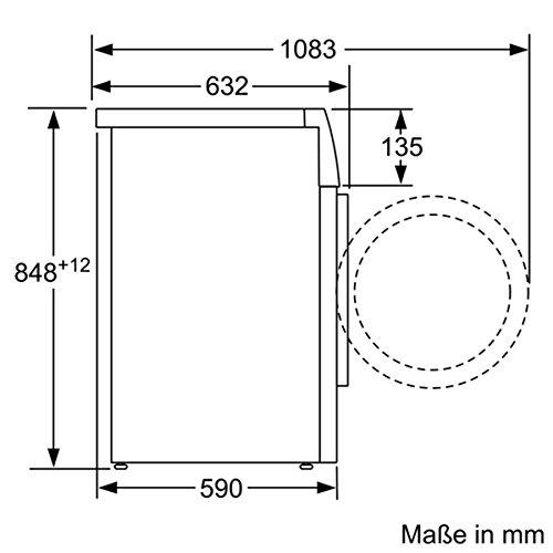 Siemens iQ700 WM14W570 Waschmaschine / 8,00 kg / A+++ / 196 kWh / 1.400 U/min / Schnellwaschprogramm / Nachlegefunktion / aquaStop - 6