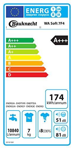 Bauknecht WA Soft 7F4 Waschmaschine Frontlader / A+++ / 1400 UpM / 7 kg / langlebiger Motor / Nachlegefunktion / Wasserschutz - 6