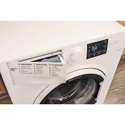 Bauknecht WA Soft 7F4 Waschmaschine Frontlader / A+++ / 1400 UpM / 7 kg / langlebiger Motor / Nachlegefunktion / Wasserschutz - 10