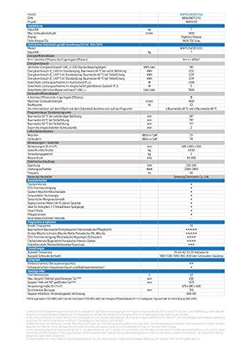 Samsung WW70J5435FX/EG Waschmaschine Frontlader/A+++/1400 UpM/7kg/85 cm Höhe/Digital Inverter Motor/grau - 3