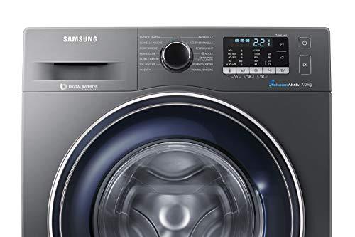 Samsung WW70J5435FX/EG Waschmaschine Frontlader/A+++/1400 UpM/7kg/85 cm Höhe/Digital Inverter Motor/grau - 5