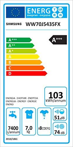 Samsung WW70J5435FX/EG Waschmaschine Frontlader/A+++/1400 UpM/7kg/85 cm Höhe/Digital Inverter Motor/grau - 7