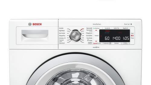 Bosch WAW28570 Serie 8 Waschmaschine Frontlader / A+++ / 196 kWh/Jahr / 1360 UpM / 8 kg / Weiß / Fleckenautomatik / Trommelreinigung mit Erinnerungsfunktion - 5