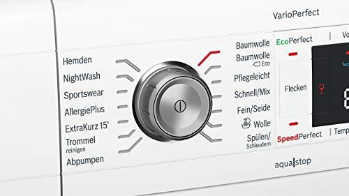 Bosch WAW28570 Serie 8 Waschmaschine Frontlader / A+++ / 196 kWh/Jahr / 1360 UpM / 8 kg / Weiß / Fleckenautomatik / Trommelreinigung mit Erinnerungsfunktion - 8