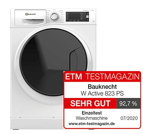 Bauknecht W Active 823 PS Waschmaschine Frontlader/ 8kg / Active Care Color+ / kraftvolle Fleckentfernung / Dampf Programme / Steam Hygiene Option / Steam Refresh / ProSilent-Motor / Stop&Add - 2