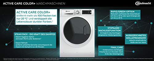 Bauknecht W Active 823 PS Waschmaschine Frontlader/ 8kg / Active Care Color+ / kraftvolle Fleckentfernung / Dampf Programme / Steam Hygiene Option / Steam Refresh / ProSilent-Motor / Stop&Add - 3